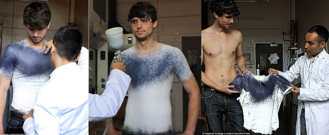 Spray on clothing. For the future?